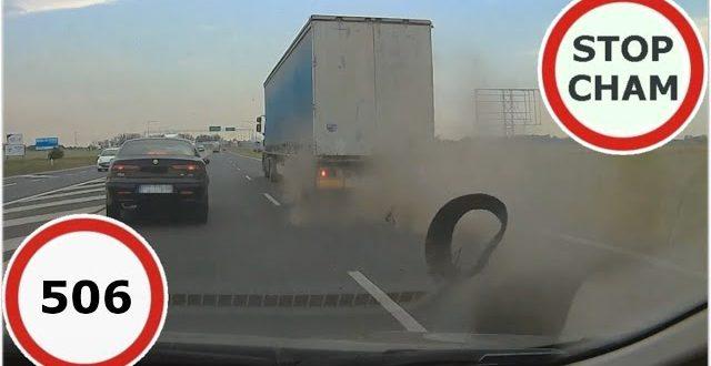 Stop Cham #506 – Niebezpieczne i chamskie sytuacje na drogach  – [Video]