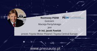 Wywiad z prezesem Toyota Motor Poland i Toyota Central Europe, drem inż. Jackiem Pawlakiem  – [Video]