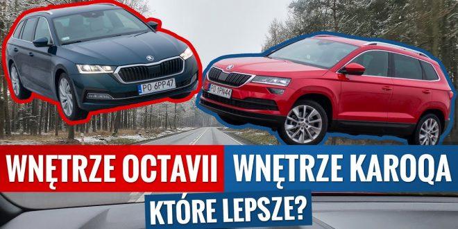 """Nowa Octavia vs """"stary"""" Karoq – który pomysł na wnętrze Skody jest lepszy?  – [Video]"""