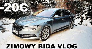 Zimowy Bida Vlog SKODA SUPERB muzyk jeździ  – [Video]
