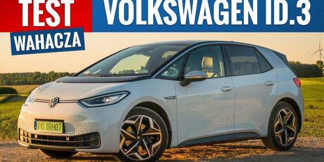 Volkswagen ID.3 2021 – TEST PL (58 kWh 204 KM) Eksperyment na żywym elektryku  – [Video]