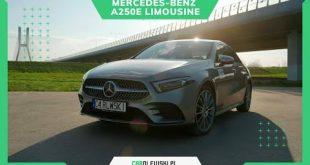 Mercedes-Benz A250e Limousine 218 KM plug-in. Kompaktowa limuzyna z klasą.  – [Video]