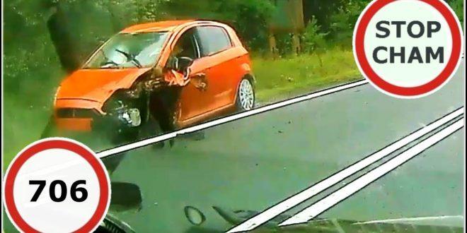 Stop Cham #706 – Niebezpieczne i chamskie sytuacje na drogach  – [Video]