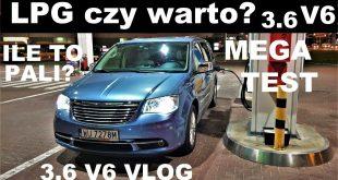 LPG? Ile to pali? Chrysler Town&Country V6 VLOG muzyk jeździ  – [Video]