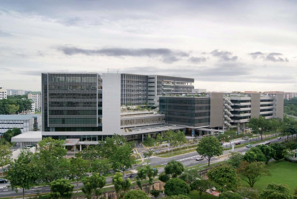 Khoo Teck Puat sykehus - miljøvennlig bygg i Singapore