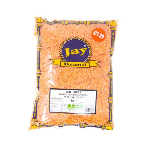 JAY Red Lentils 1kg - £1.79