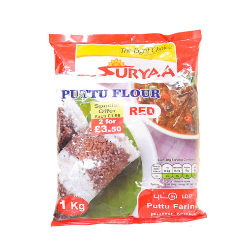 Suryaa Puttu Flour Red 1kg - £1.99