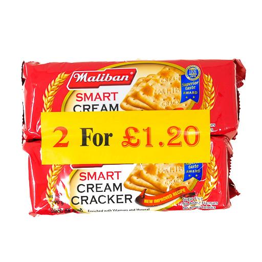 Maliban Smart Cream Cracker 2packs - £0.60