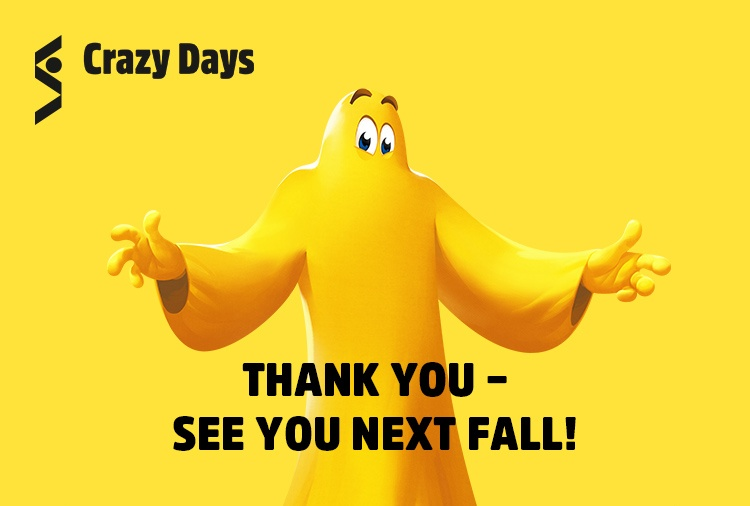 THANK YOU - SEE YOU NEXT FALL!