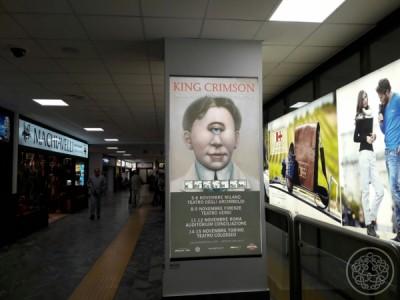 King Crimson Pisa Airport Billboard  - Adolfo Galli