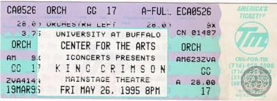 KC19950526_Buffalo_ticket  - Mel Huang