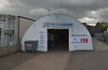 JK Tyres Stirling logo