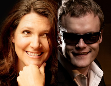 Kate Dimbleby and Derek Paravachini