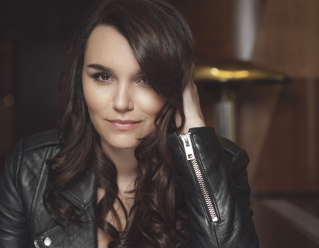 Samantha Barks beach
