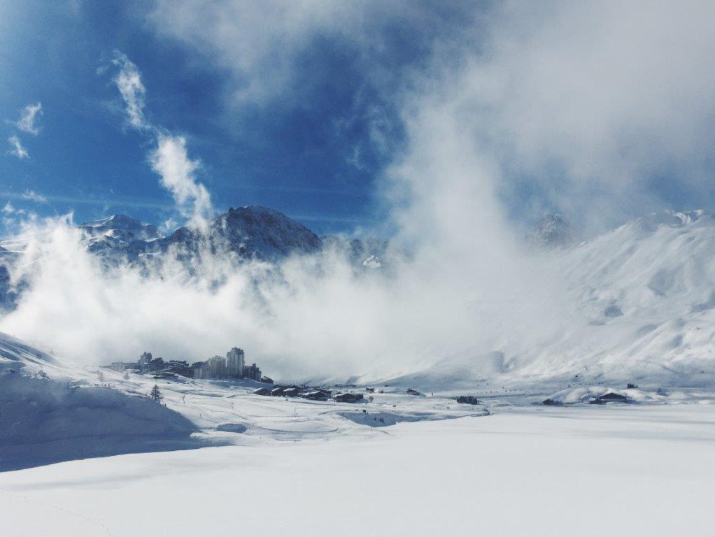 Tignes Frankrijk bergen sneeuw